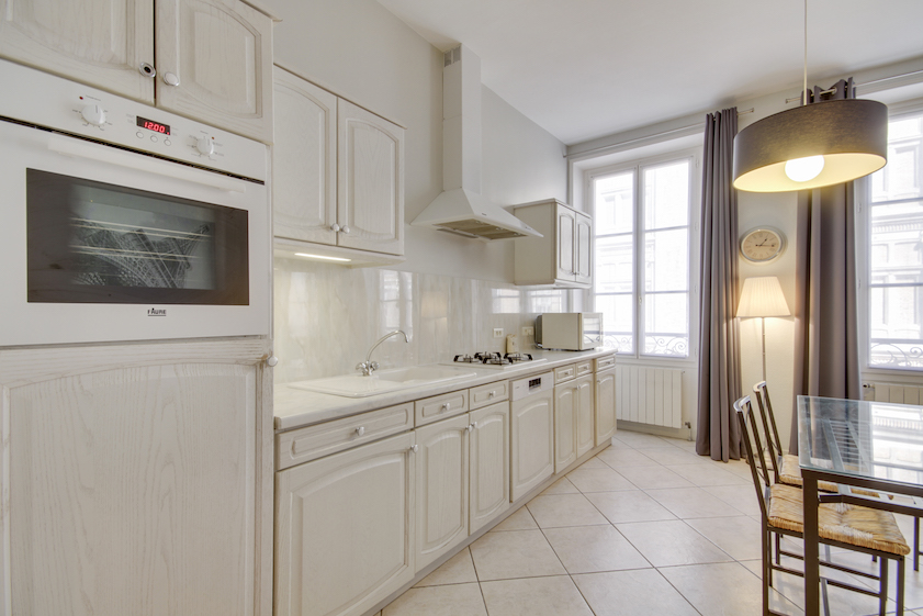 Kitchen at Rue Vaucanson Apartment - Citybase Apartments