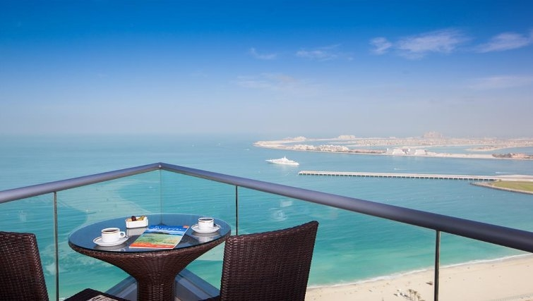 Stunning balcony in JA Oasis Beach Tower - Citybase Apartments