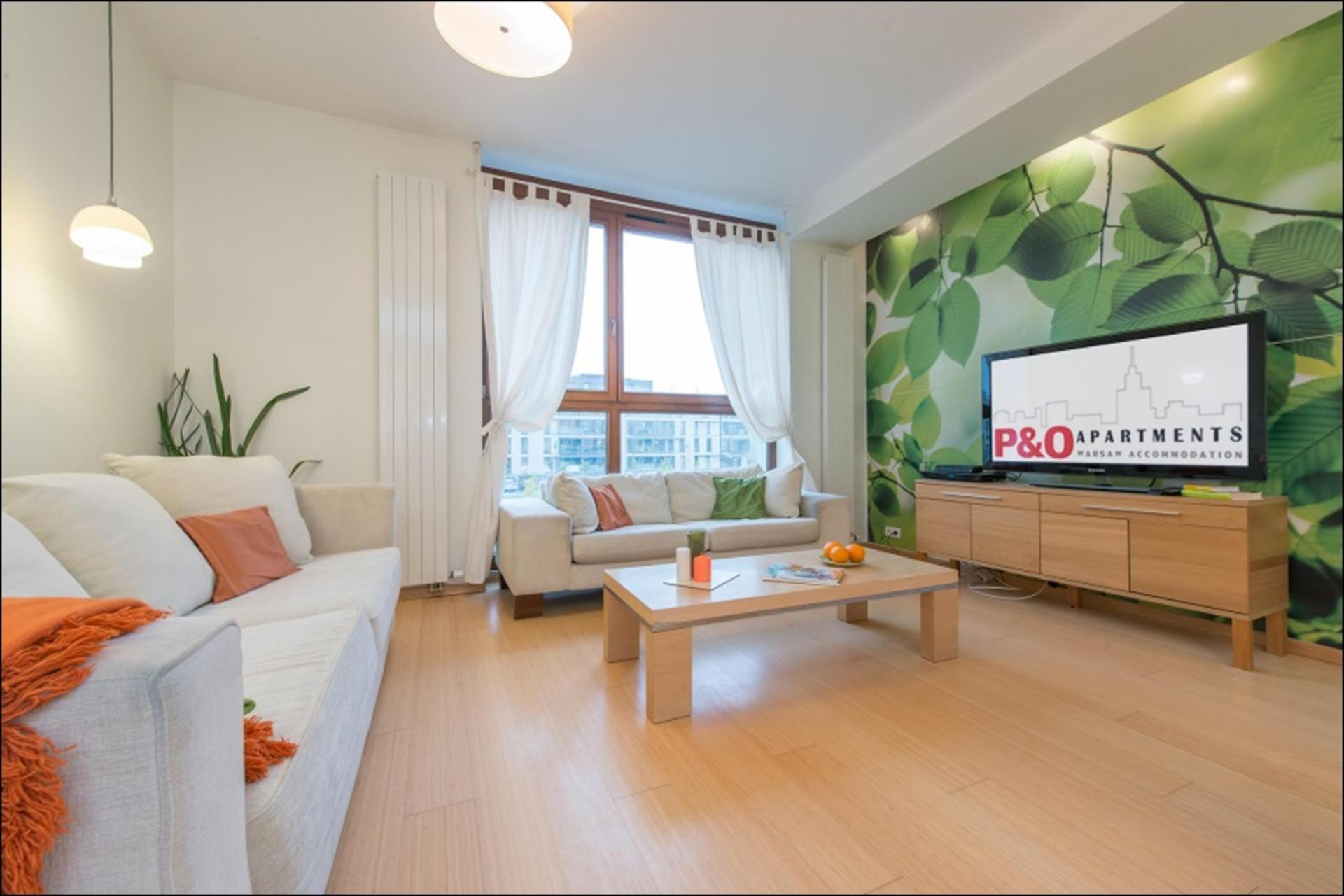 TV at Wilanow 6 Apartments, Wilanów, Warsaw - Citybase Apartments