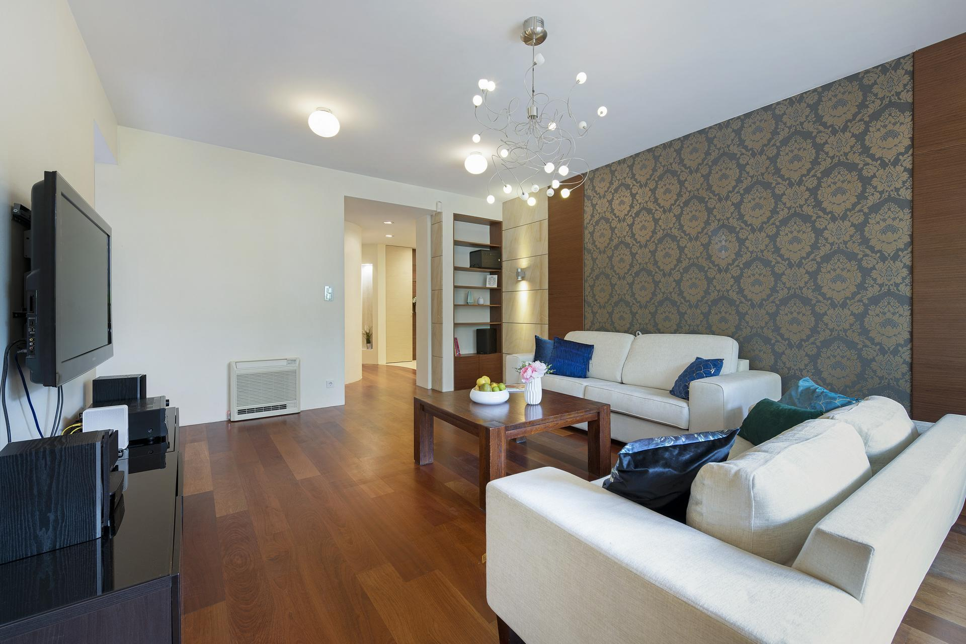 Stylish living area at Wilanow 6 Apartments, Wilanów, Warsaw - Citybase Apartments