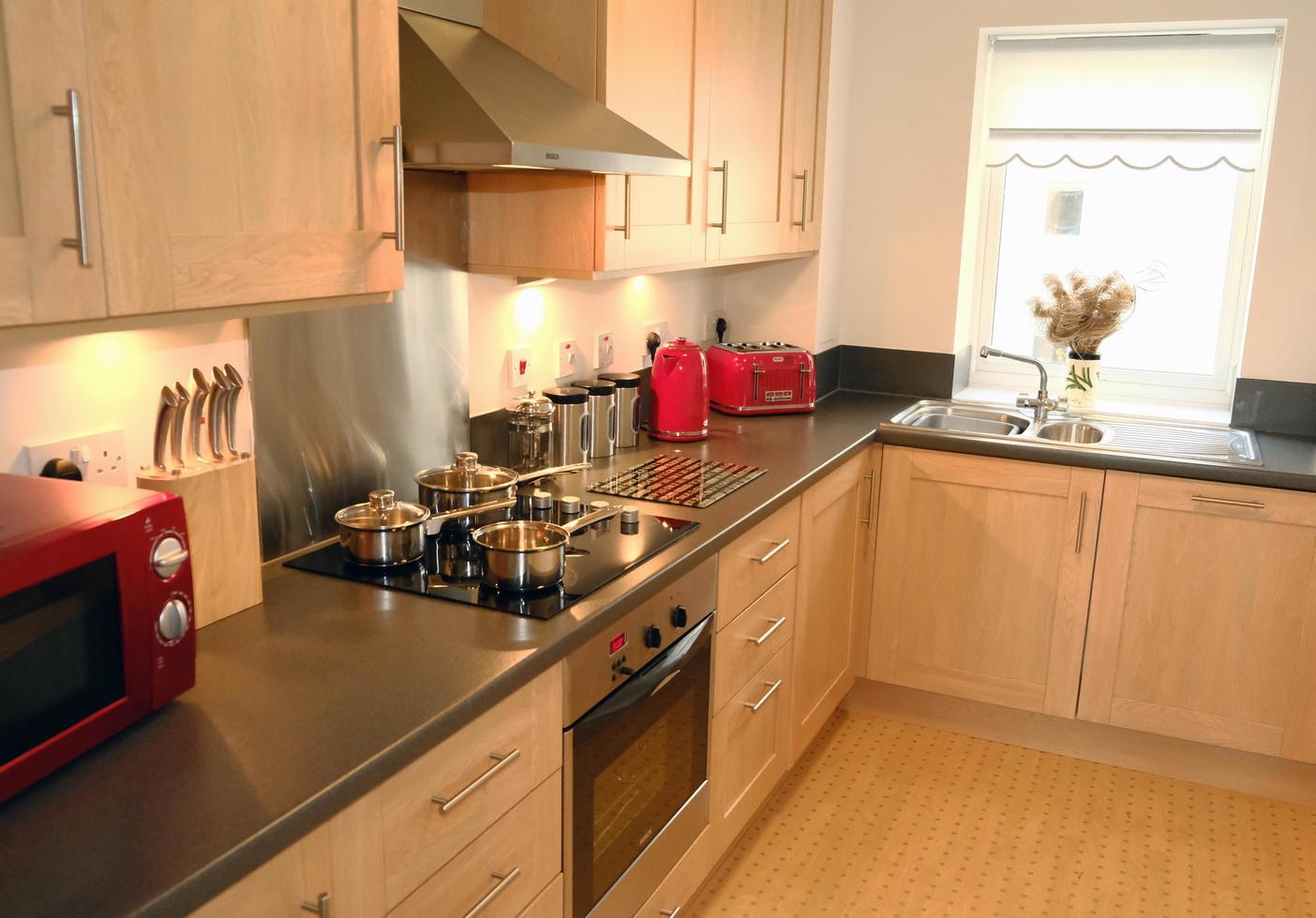 Kitchen at Knightsbridge Court Apartments - Citybase Apartments