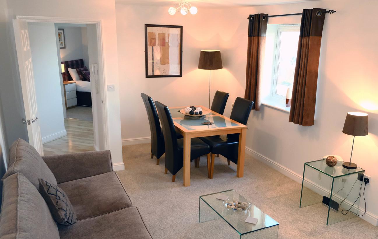 Lounge at Knightsbridge Court Apartments - Citybase Apartments
