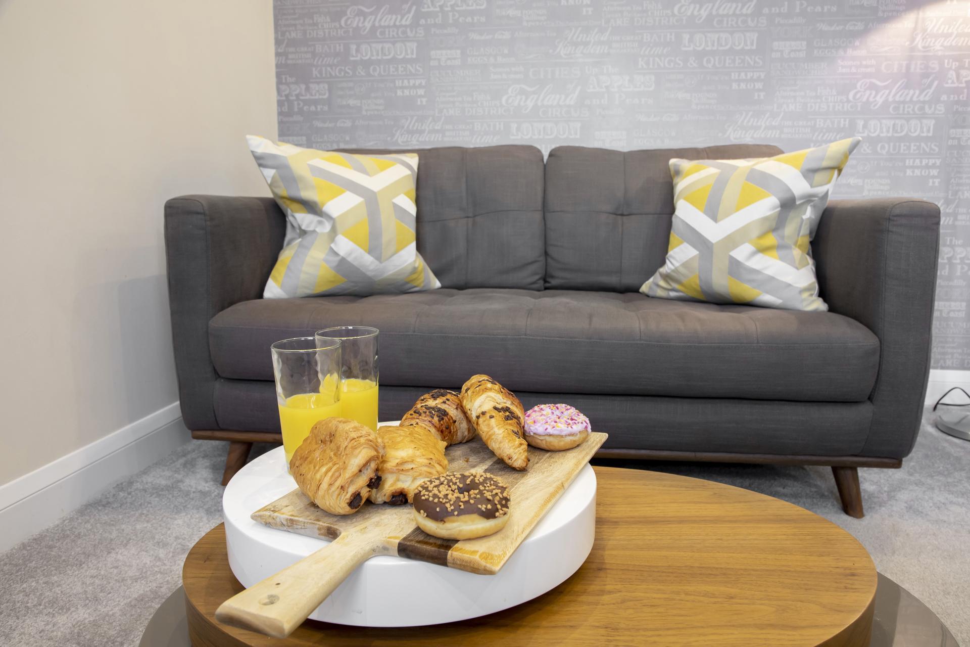 Sofa at Apartment 4 Murray House - Citybase Apartments