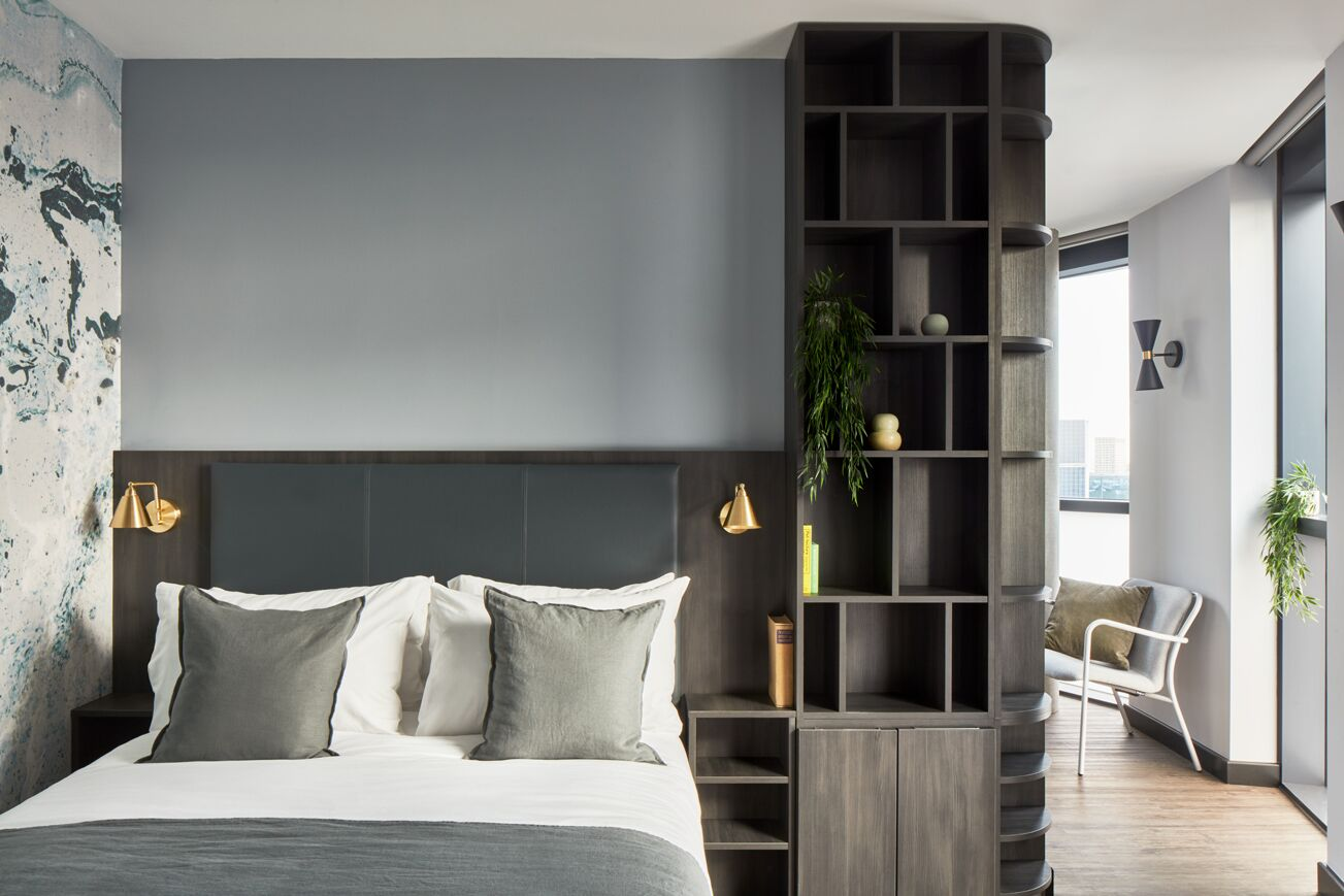 Bedroom at Crossharbour Plaza Apartments, Isle of Dogs, London - Citybase Apartments