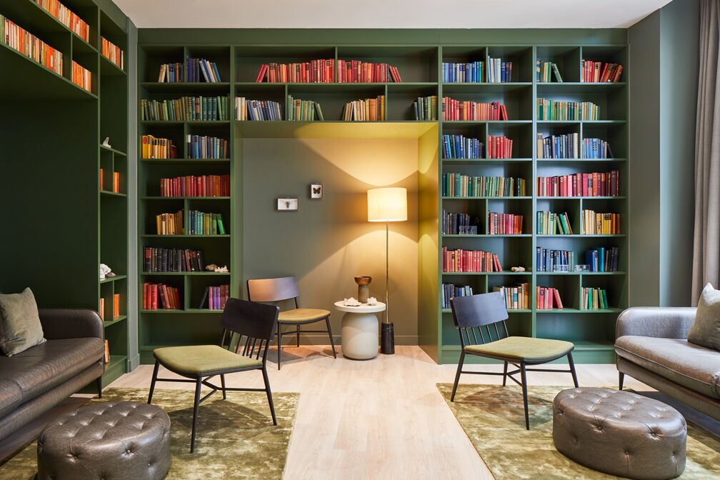 Library at Crossharbour Plaza Apartments, Isle of Dogs, London - Citybase Apartments