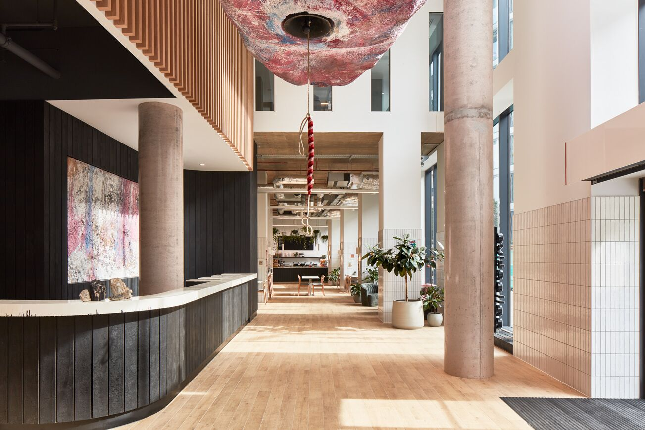 Reception at Crossharbour Plaza Apartments, Isle of Dogs, London - Citybase Apartments