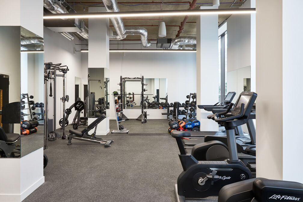Gym at Crossharbour Plaza Apartments, Isle of Dogs, London - Citybase Apartments