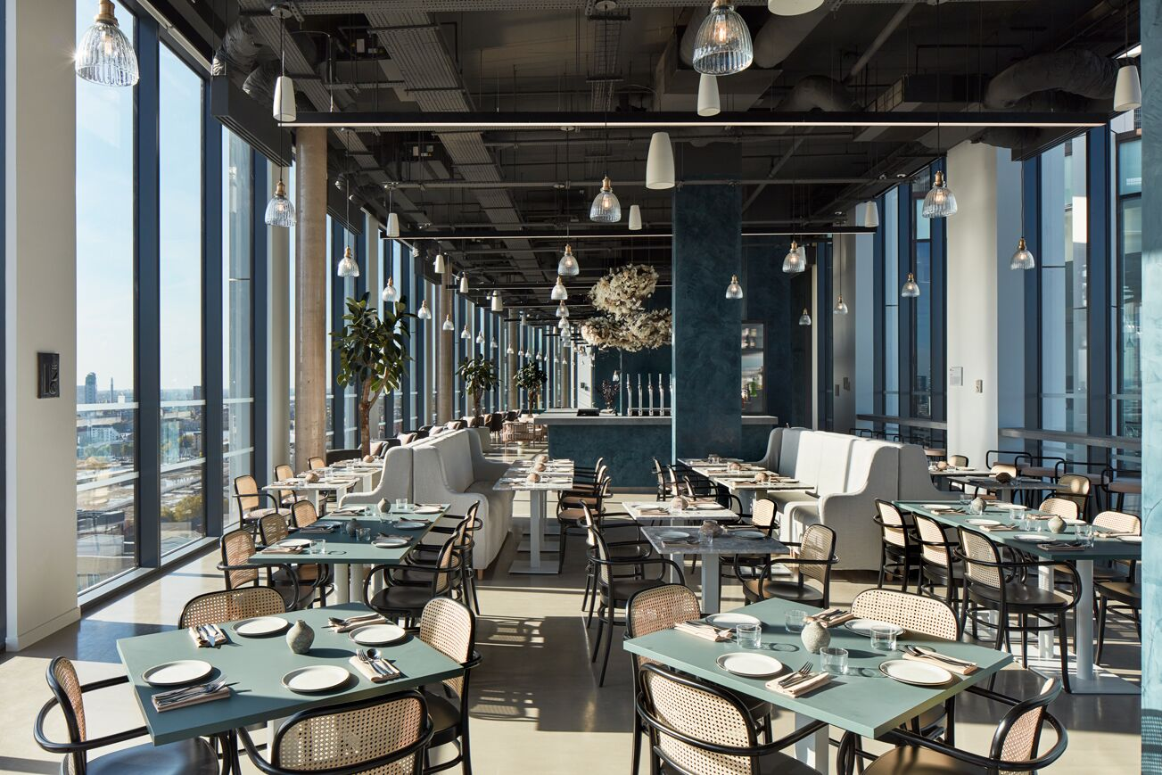 Restaurant at Crossharbour Plaza Apartments, Isle of Dogs, London - Citybase Apartments