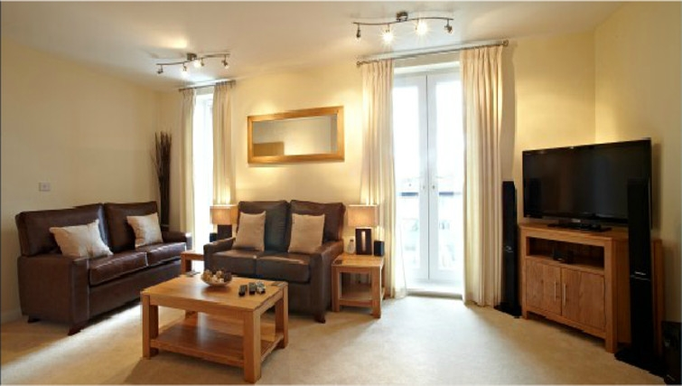 Attractive living area in Ibex House - Citybase Apartments