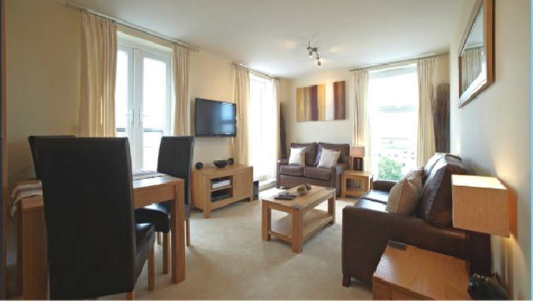 Welcoming living area in Ibex House - Citybase Apartments