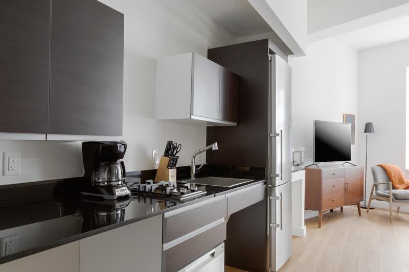 Kitchen amenities at 116 John Street Corporate Housing - Citybase Apartments