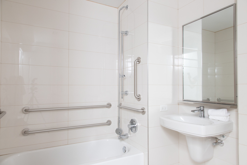 Disability adapted bathroom at 116 John Street Corporate Housing - Citybase Apartments