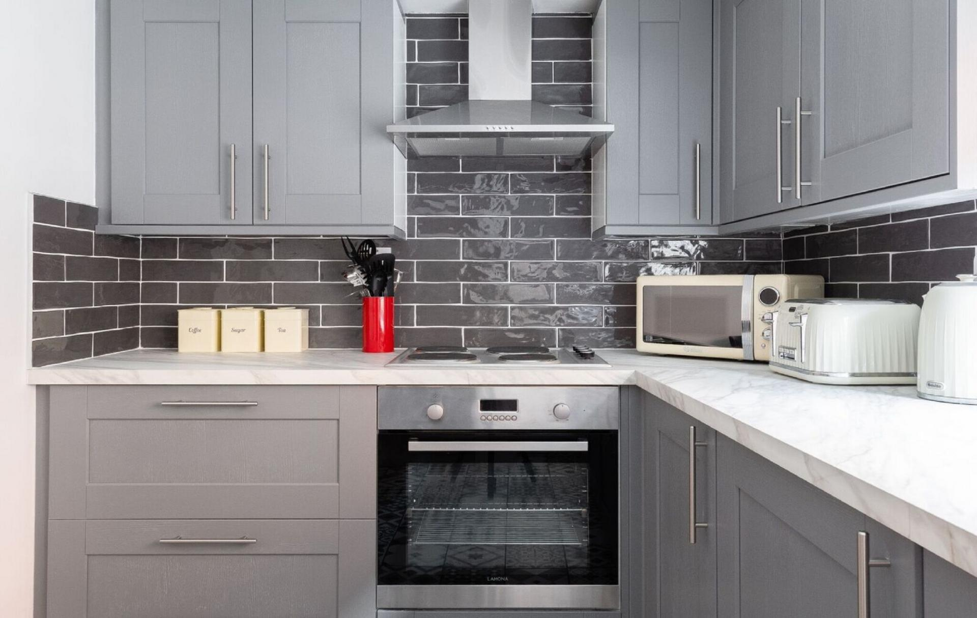 Kitchen at The Oxford Loft, Centre, Oxford - Citybase Apartments