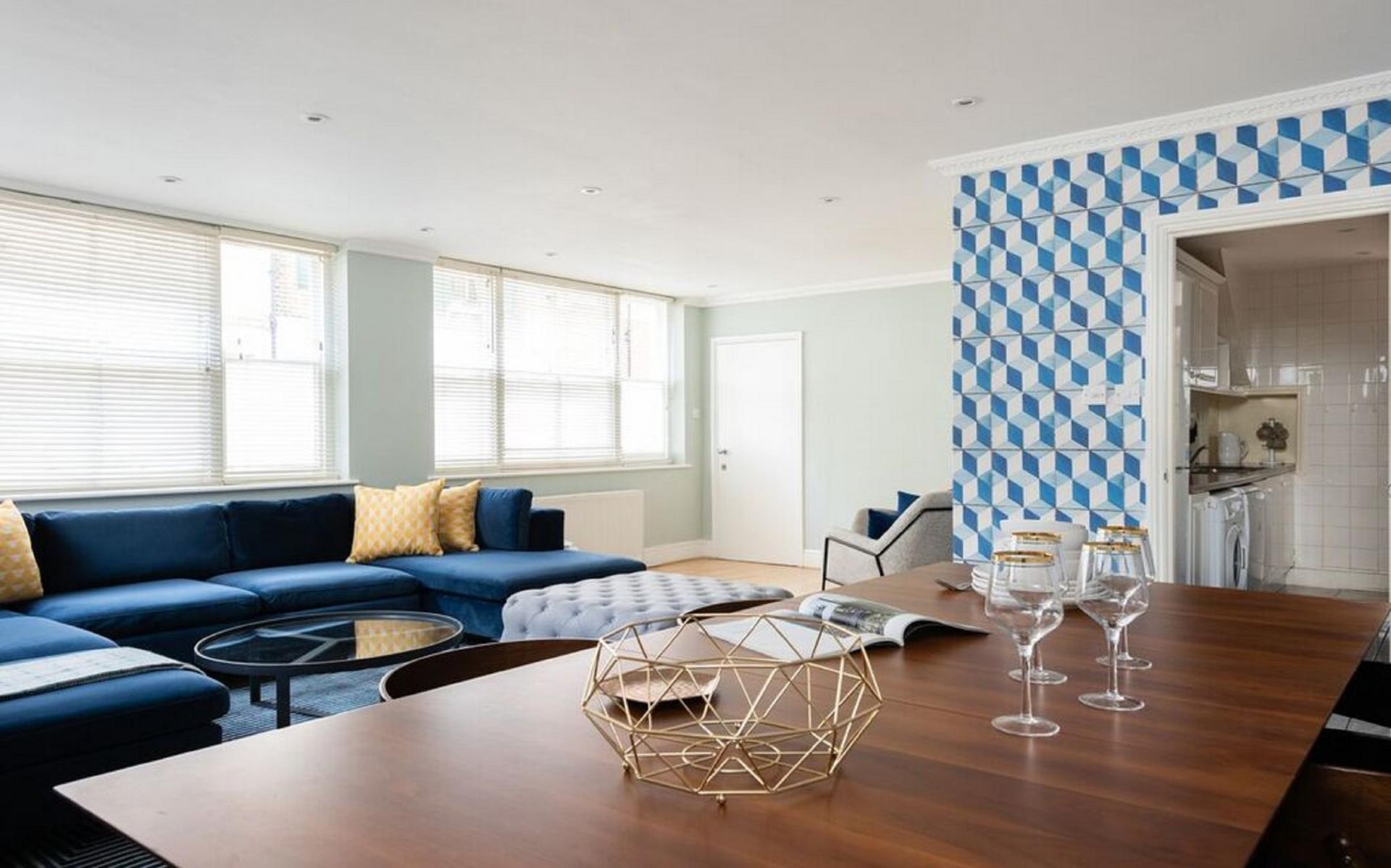 Dining table at The Kensington Palace Mews, Kensington, London - Citybase Apartments
