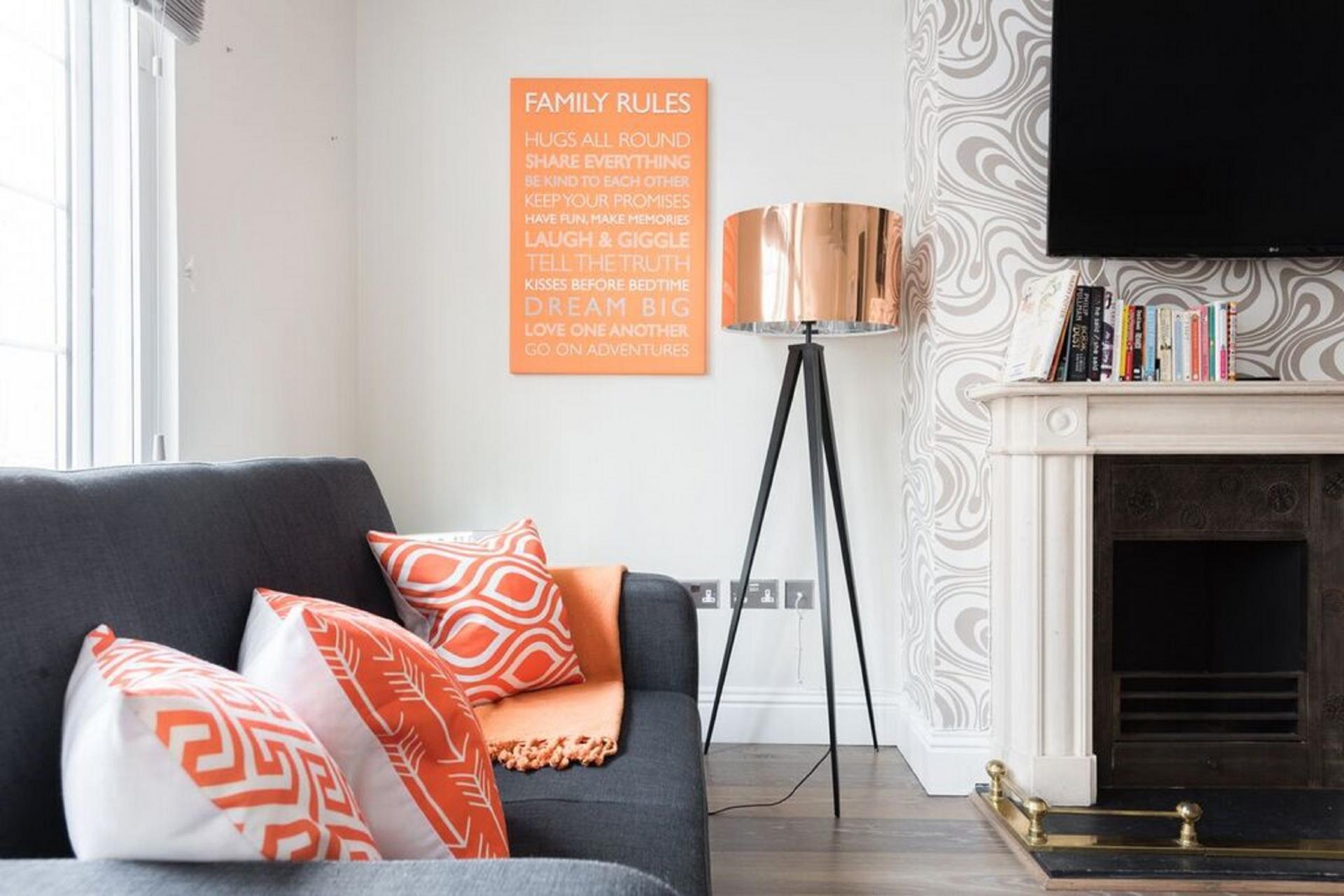 Living room at The Oxford Street Studio, Paddington, London - Citybase Apartments