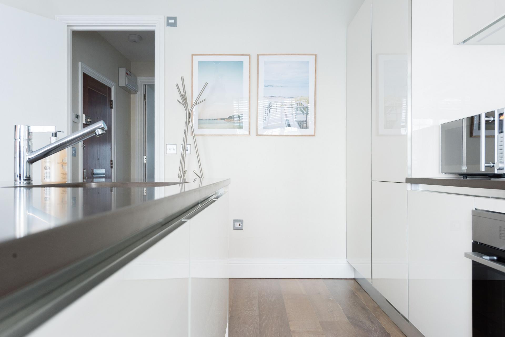 Kitchen at The Oxford Street Studio, Paddington, London - Citybase Apartments