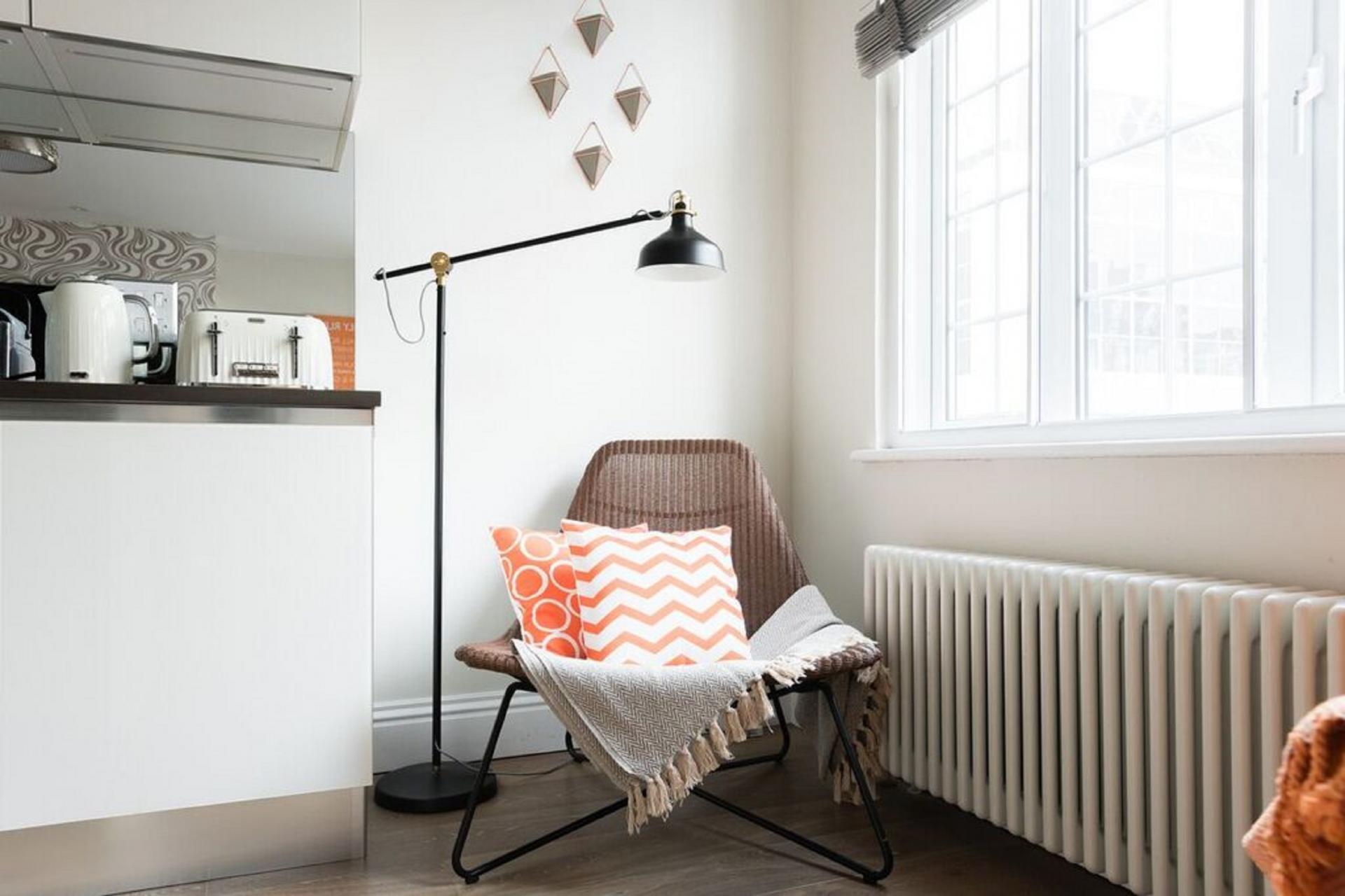 Armchair at The Oxford Street Studio, Paddington, London - Citybase Apartments