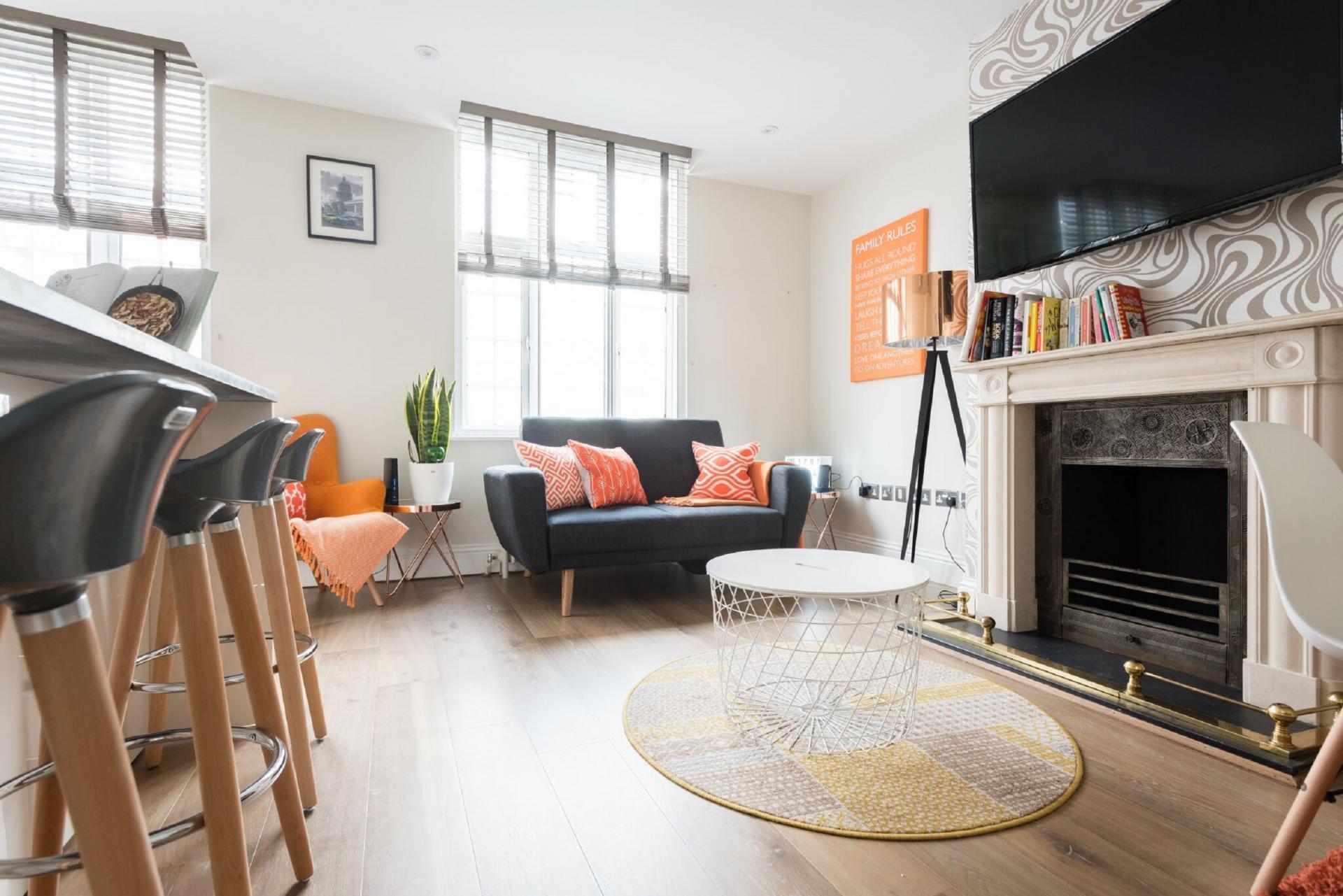 Fireplace at The Oxford Street Studio, Paddington, London - Citybase Apartments