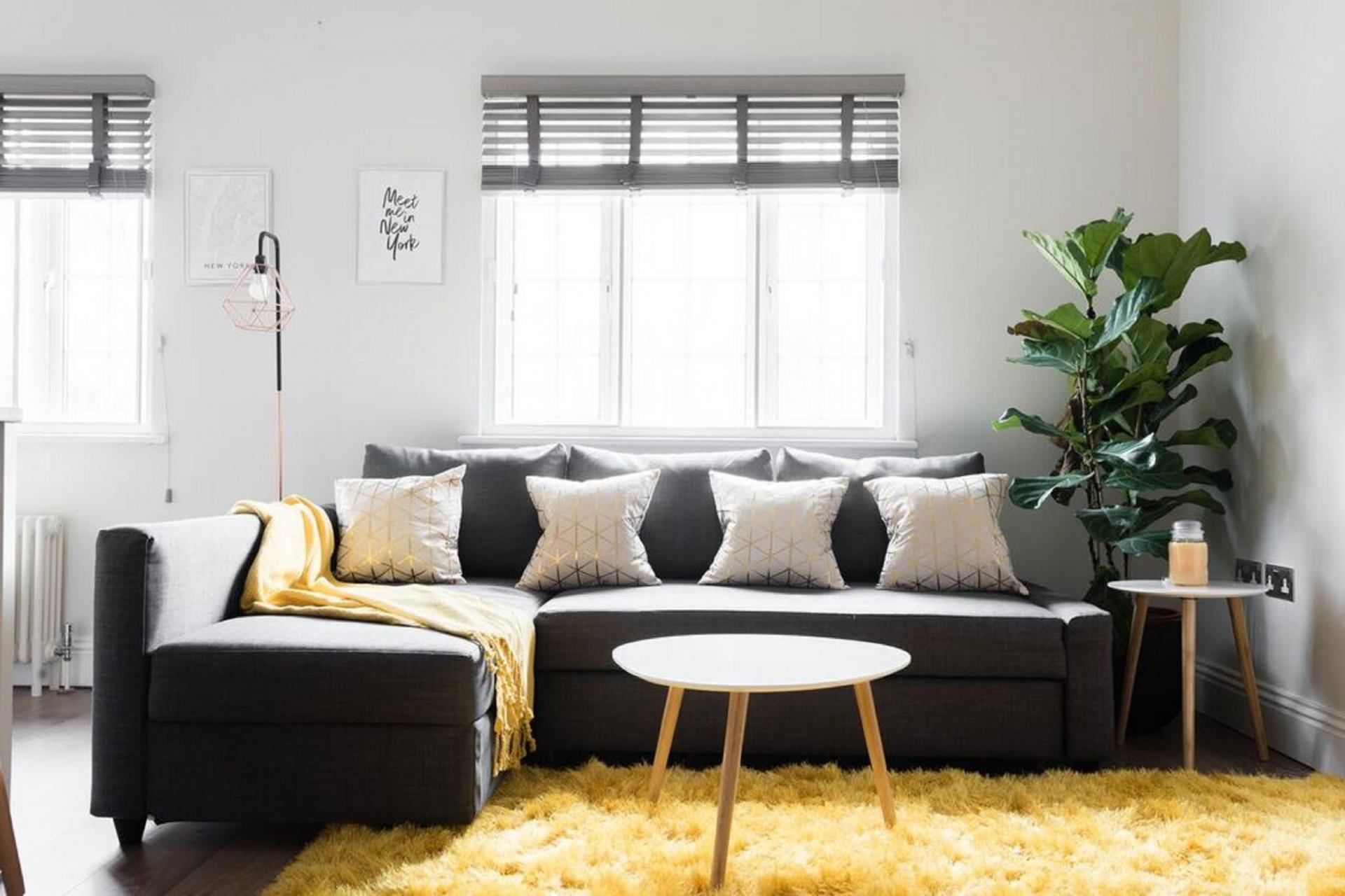 Living area at The Soho Studio Apartment, Paddington, London - Citybase Apartments