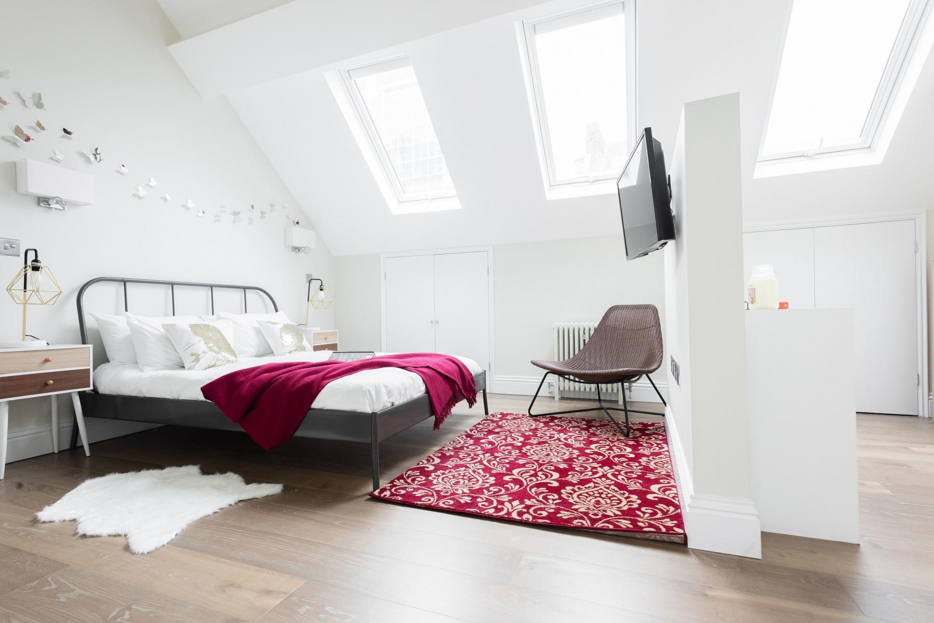Spacious bedroom at The Soho Studio Apartment, Paddington, London - Citybase Apartments