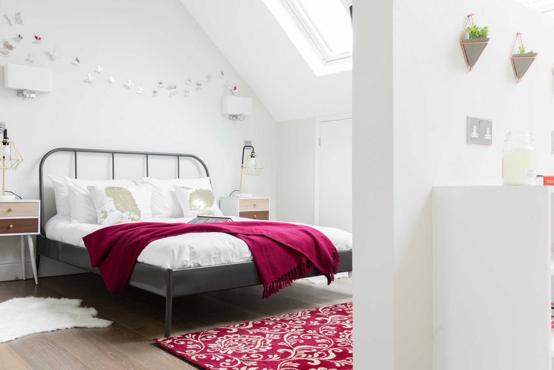 Pink decor at The Soho Studio Apartment, Paddington, London - Citybase Apartments