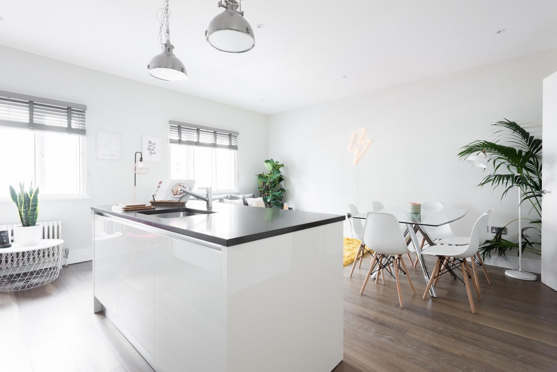 Kitchen island at The Soho Studio Apartment, Paddington, London - Citybase Apartments