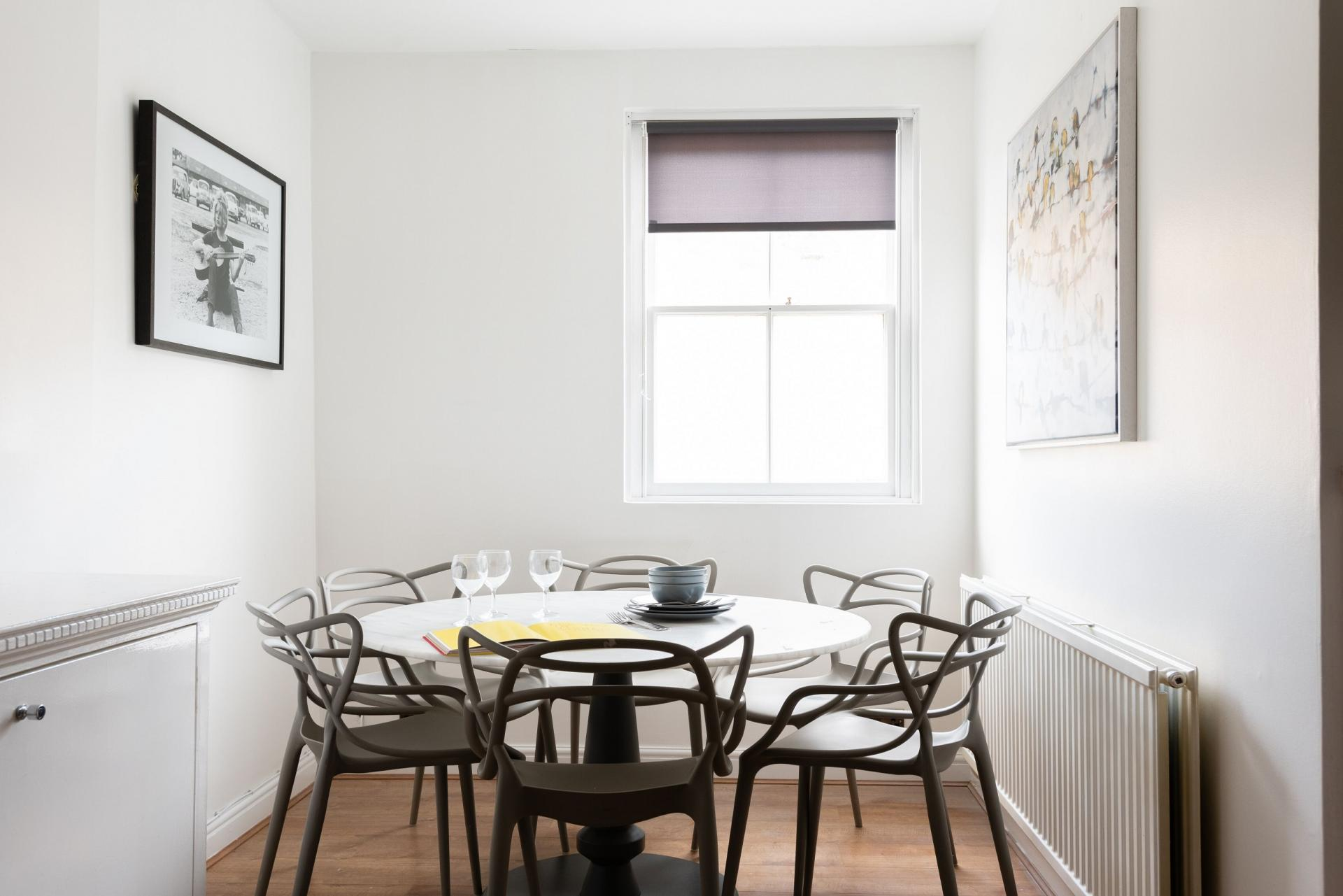Dining room at The Paddington Mews, Paddington, London - Citybase Apartments