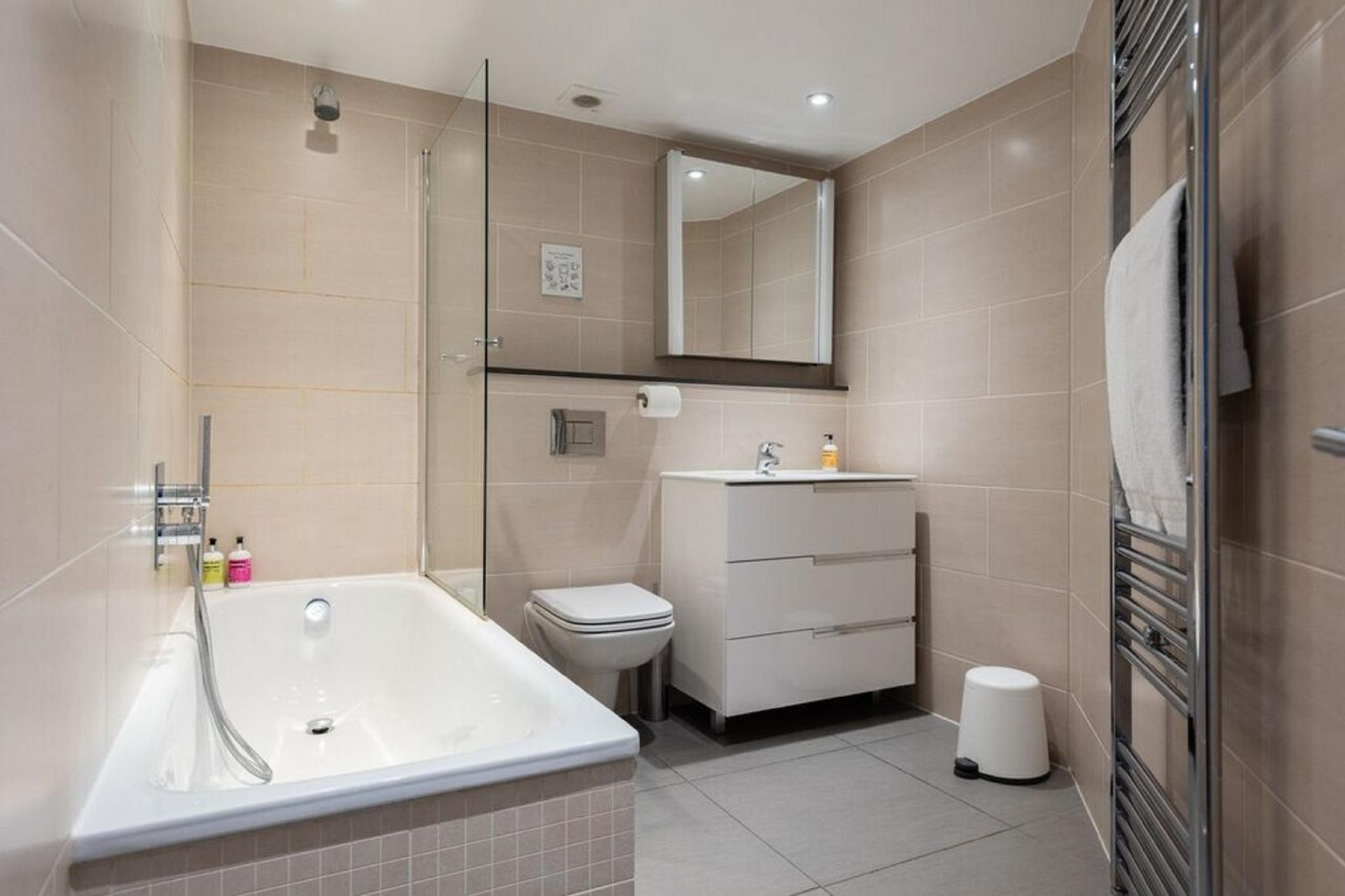 Bathroom at The Paddington Mews, Paddington, London - Citybase Apartments