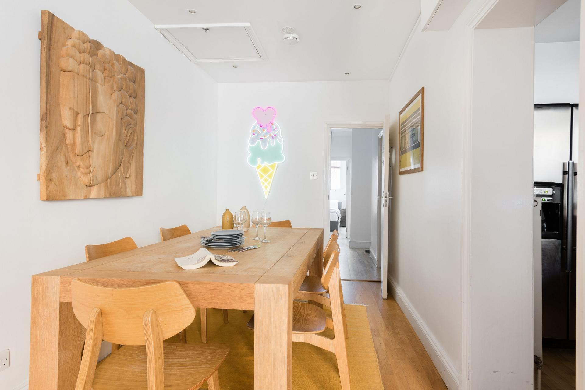 Dining room at The Bayswater Gardens House, Bayswater, London - Citybase Apartments