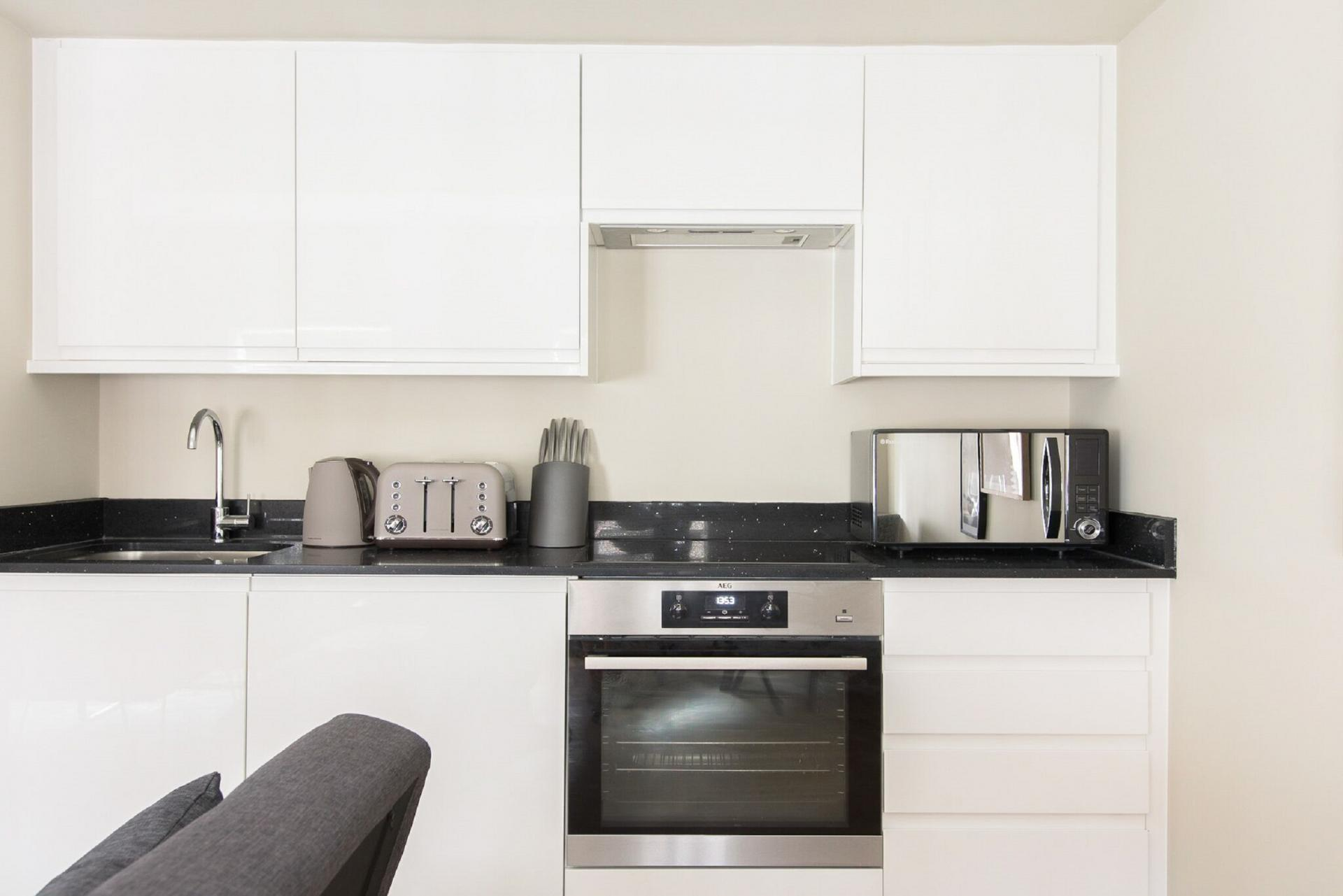Kitchen at The Soho Loft, Mayfair, London - Citybase Apartments