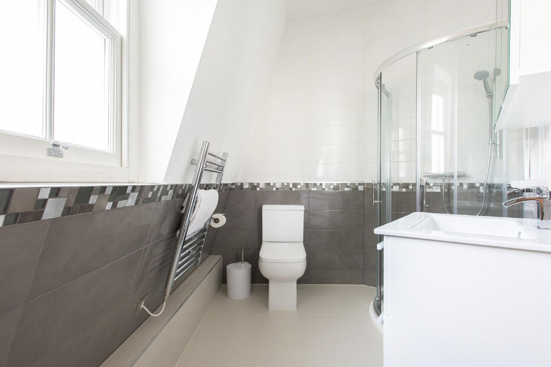 Bathroom at The Soho Loft, Mayfair, London - Citybase Apartments