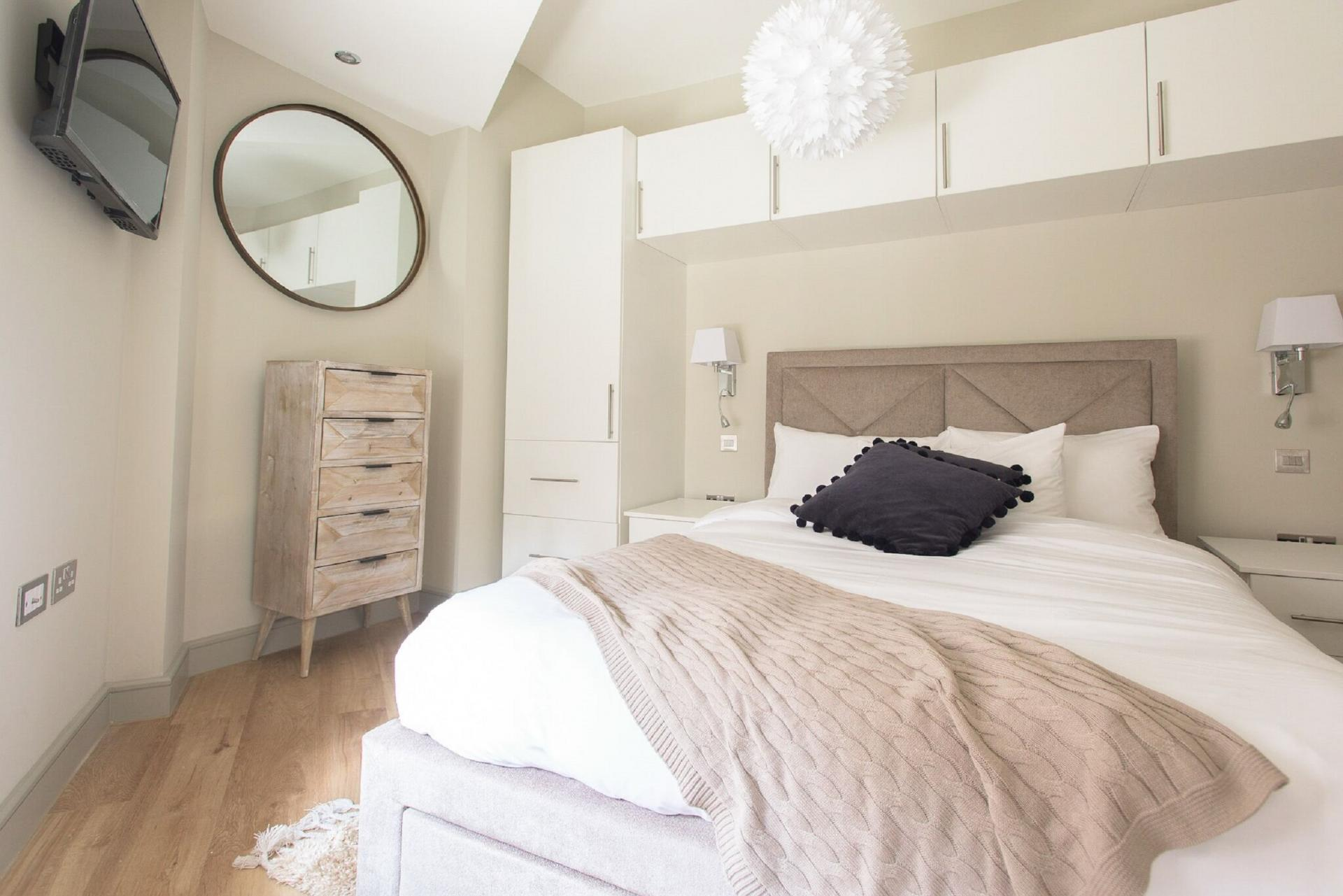 Bedroom at The Soho Loft, Mayfair, London - Citybase Apartments