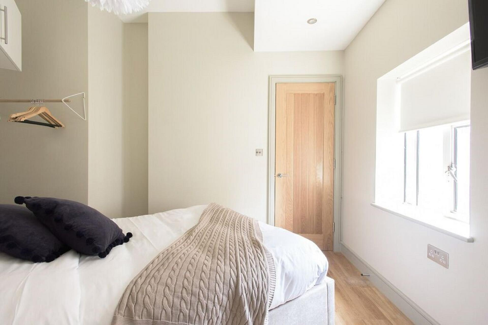 Bedroom layout at The Soho Loft, Mayfair, London - Citybase Apartments