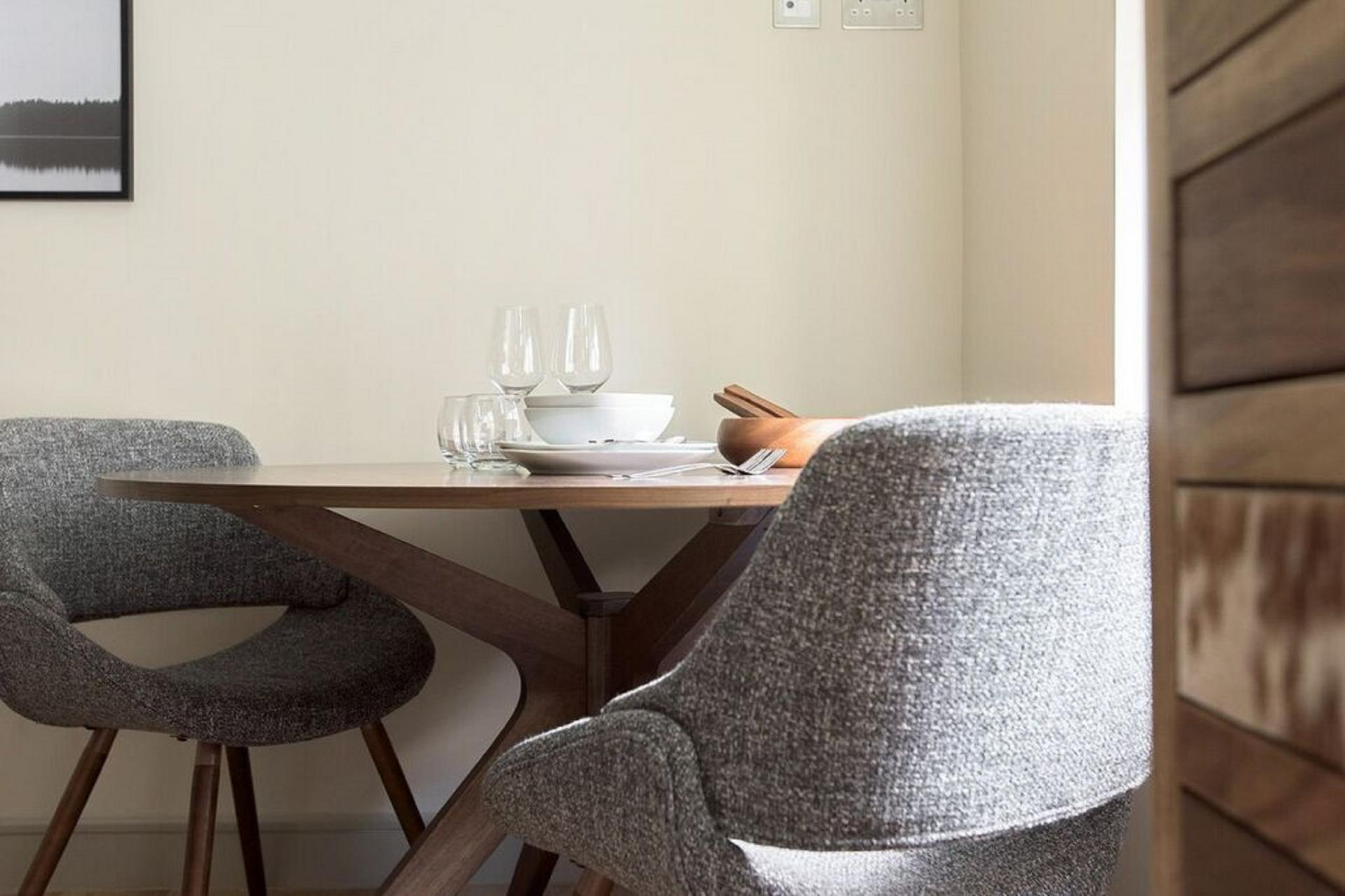 Dining table at The Soho Loft, Mayfair, London - Citybase Apartments