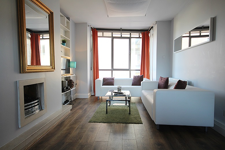 Living room at Temple Bar Apartments - Citybase Apartments