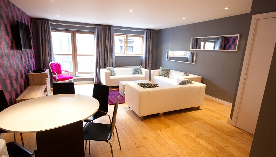 Dining area at Temple Bar Apartments - Citybase Apartments
