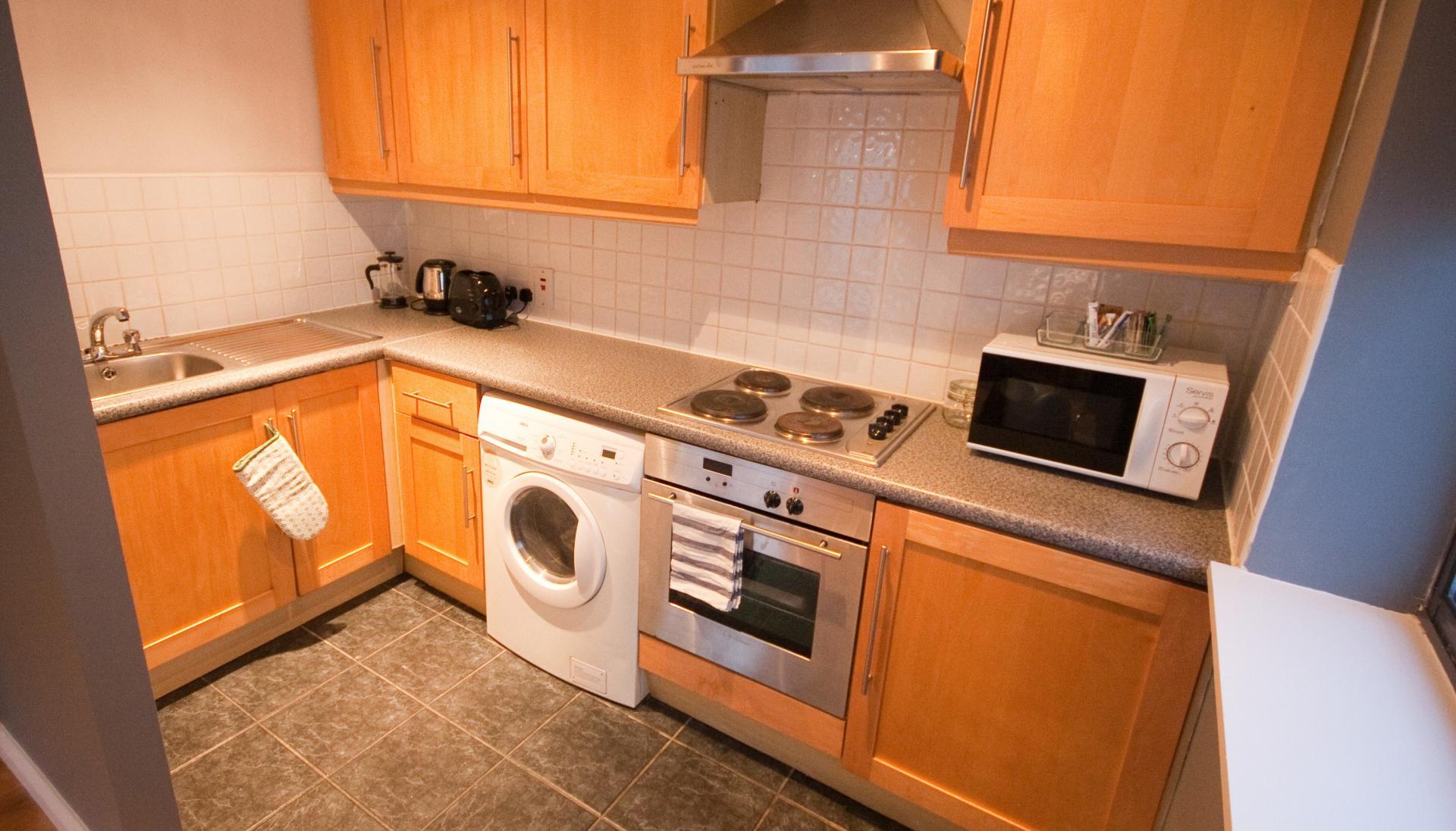 Kitchen facilities at Temple Bar Apartments - Citybase Apartments