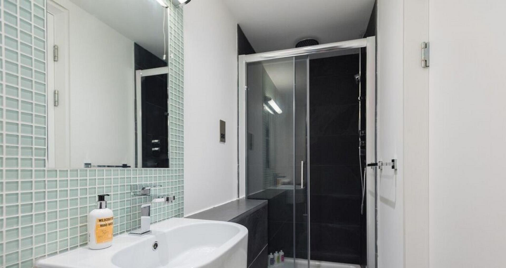 Bathroom at The Camden Chalet, Camden, London - Citybase Apartments