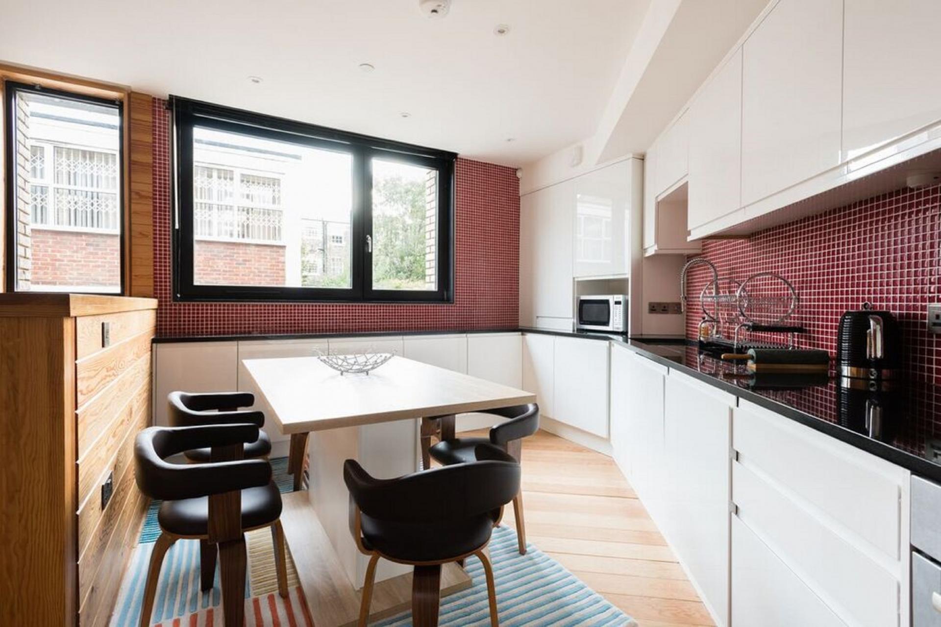 Dining area at The Camden Chalet, Camden, London - Citybase Apartments