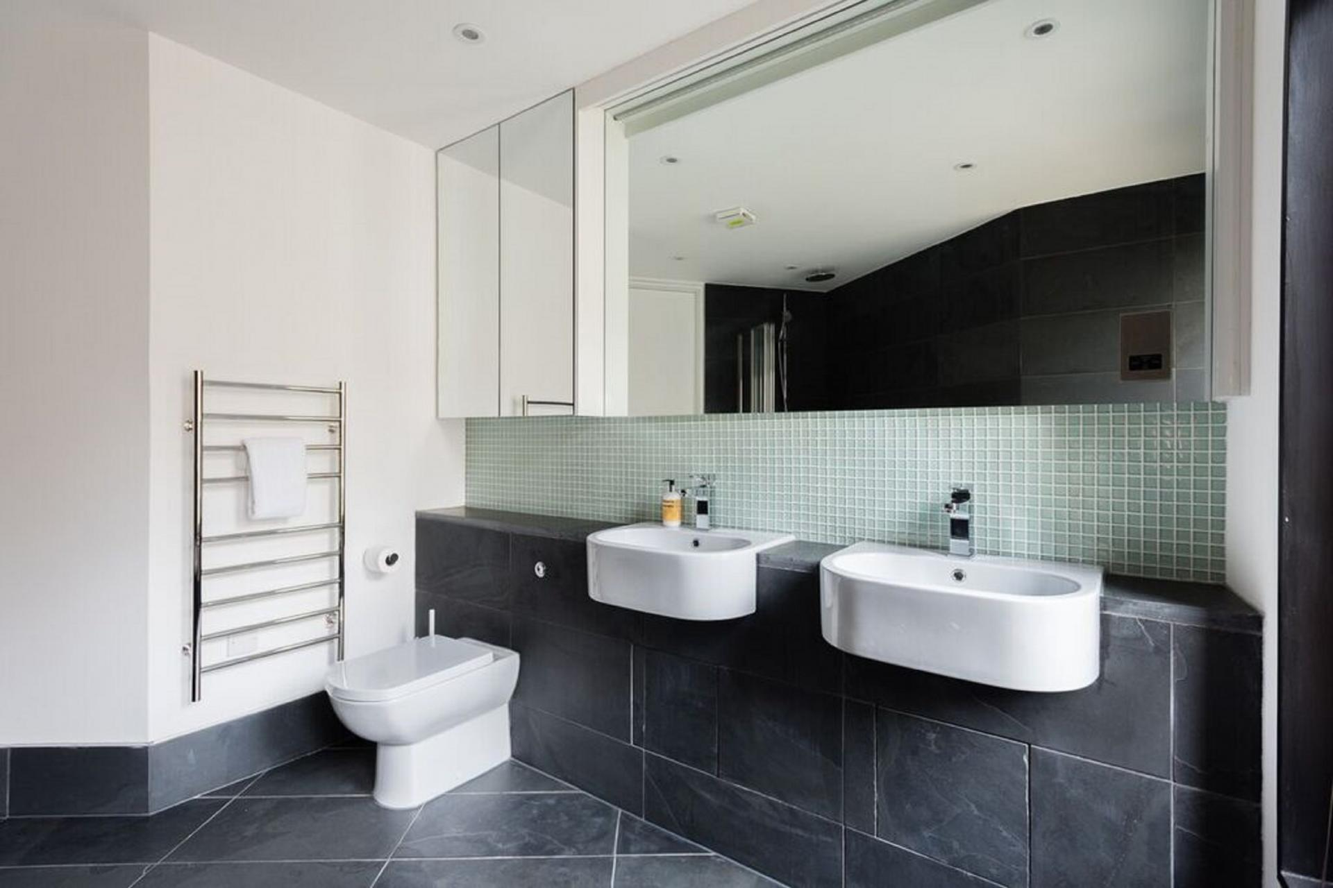 His and hers sinks at The Camden Chalet, Camden, London - Citybase Apartments