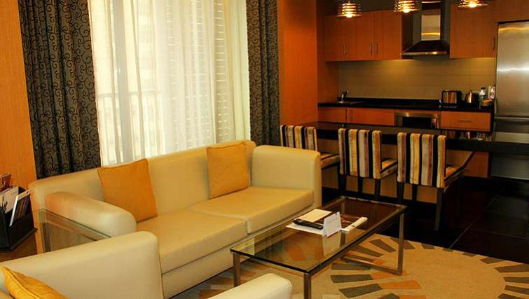 Lovely living area in Hala Arjaan Apartments - Citybase Apartments