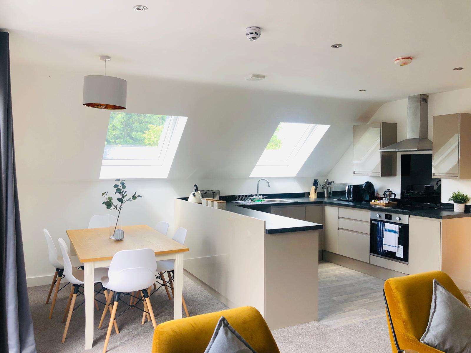 Kitchen at Opulent Luxe Apartments - Citybase Apartments