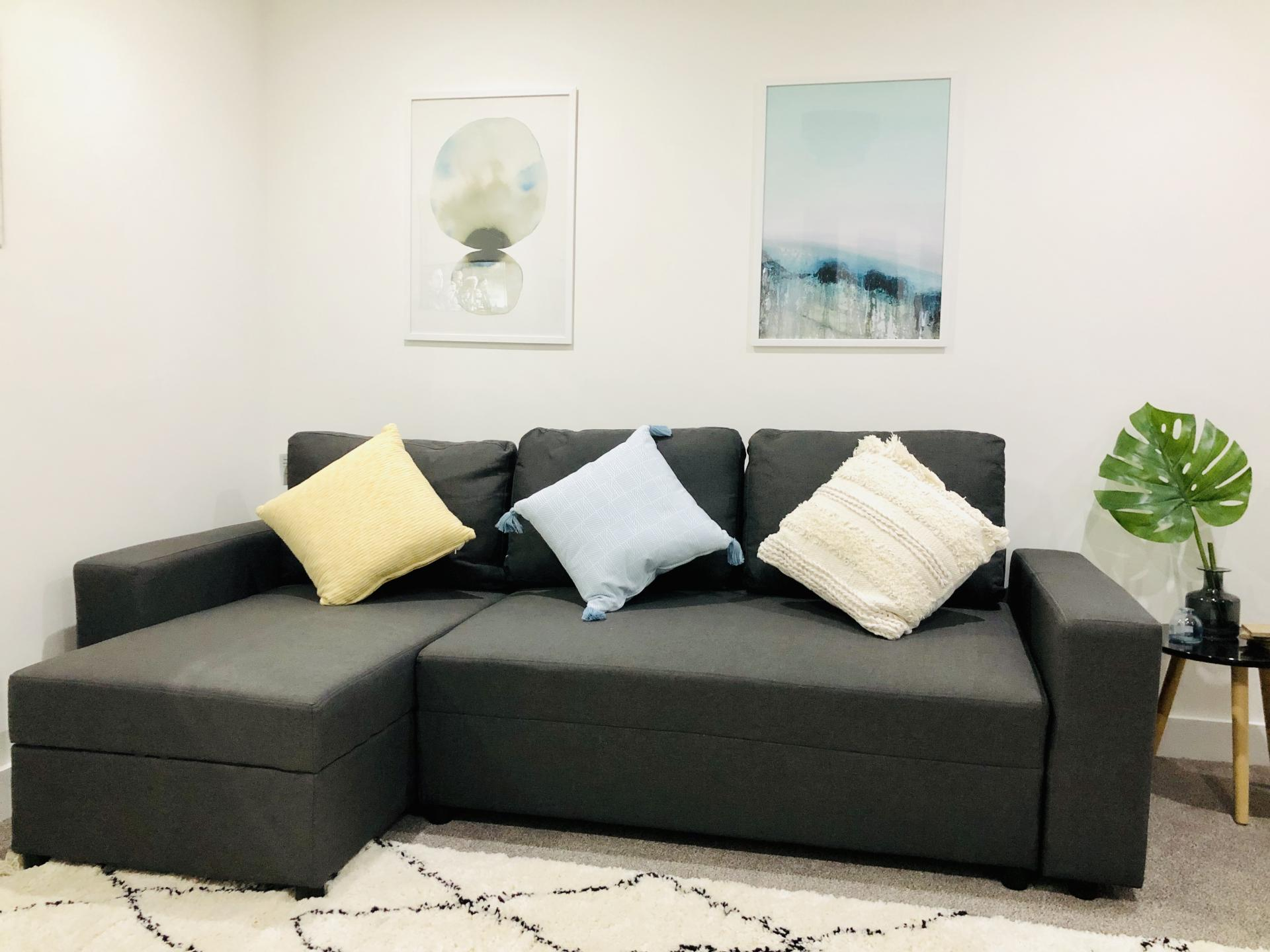 Sofa at Opulent Luxe Apartments - Citybase Apartments