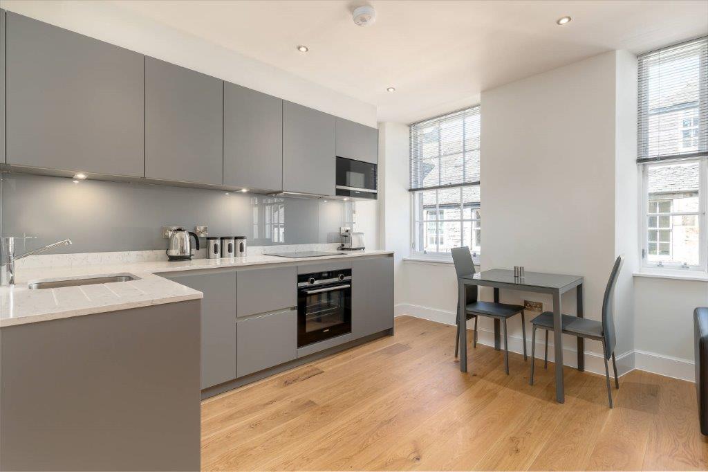 Kitchen diner at Thistle Street Edinburgh Apartments - Citybase Apartments