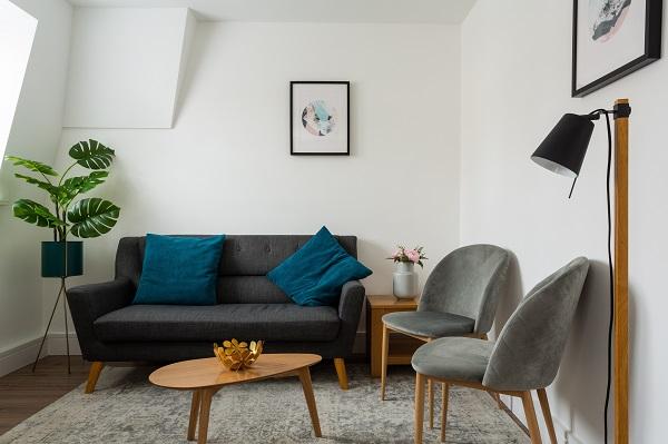 Sofa at Flying Butler Bloomburg Street Apartments, Pimlico, London - Citybase Apartments