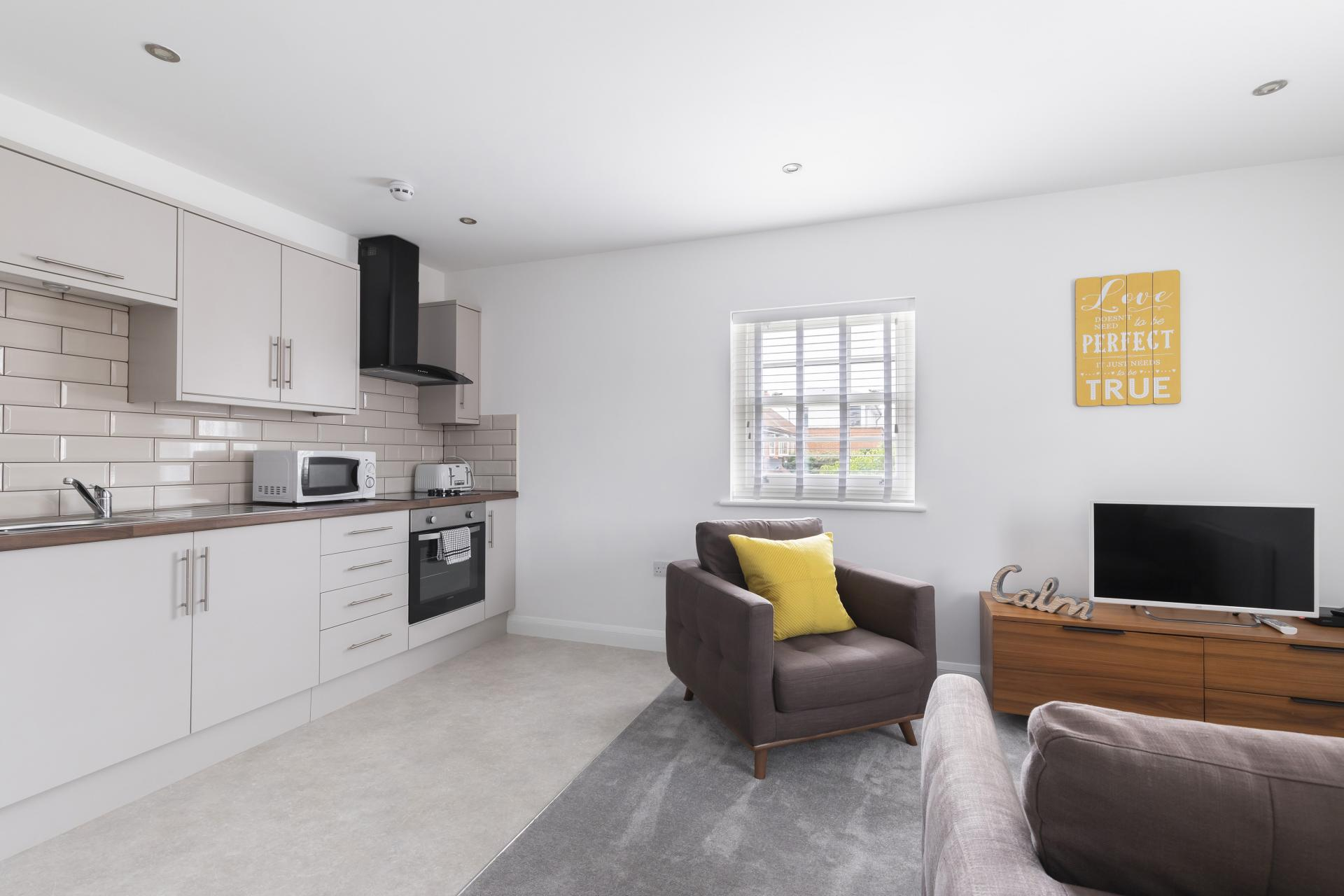 TV at Apartment 3 Murray House - Citybase Apartments