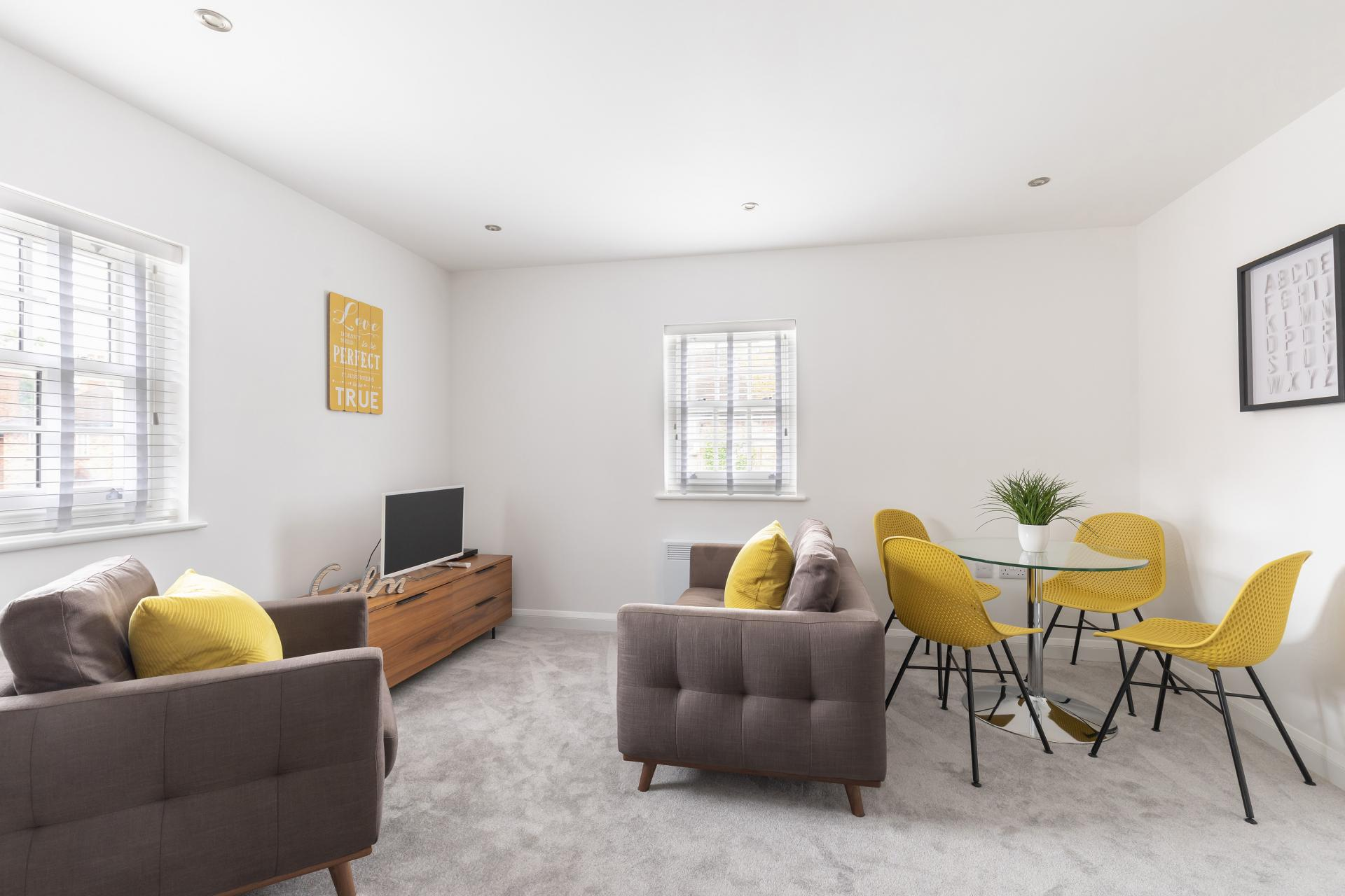 Living area at Apartment 3 Murray House - Citybase Apartments