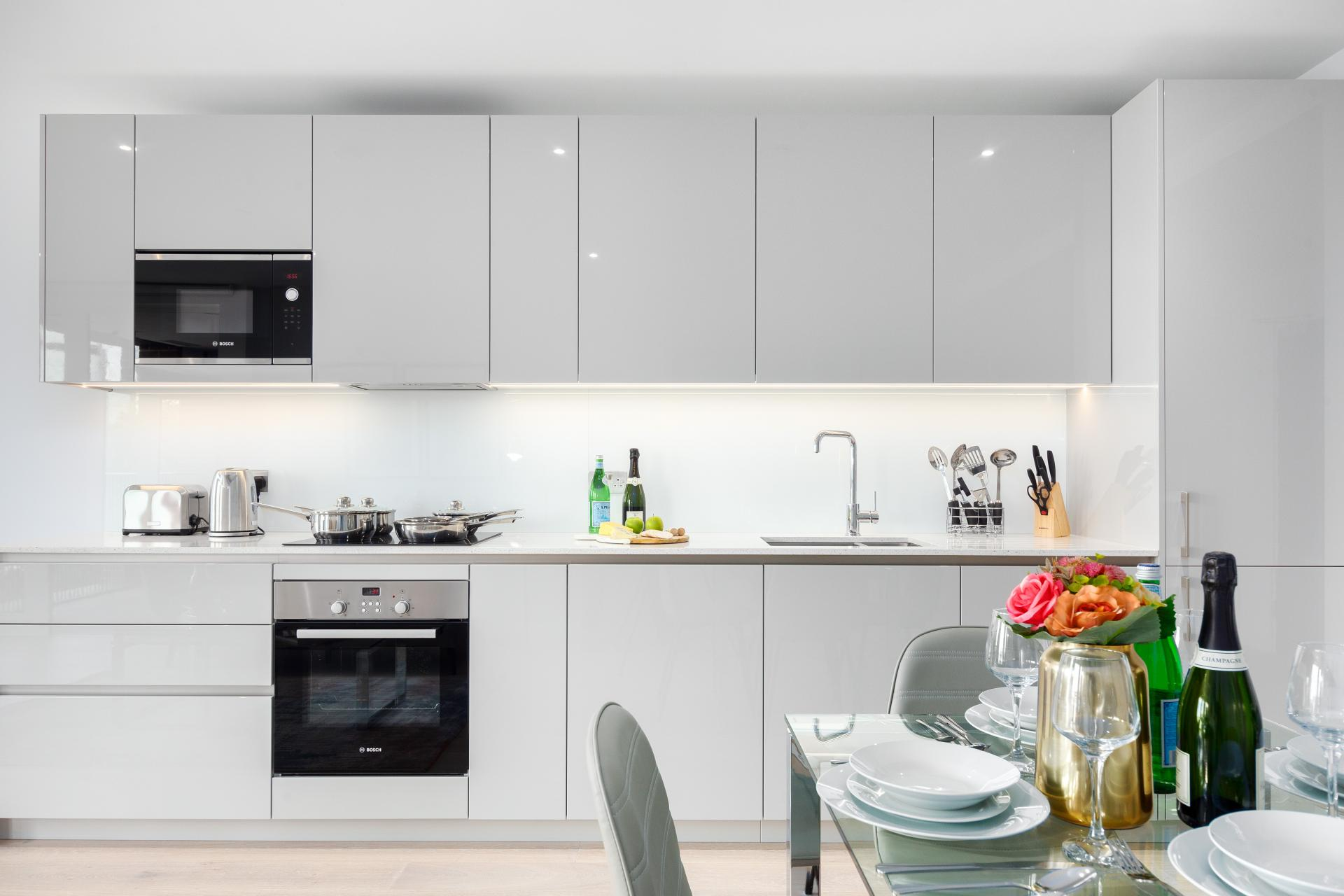 Kitchen at Elephant & Castle Serviced Apartments - Citybase Apartments