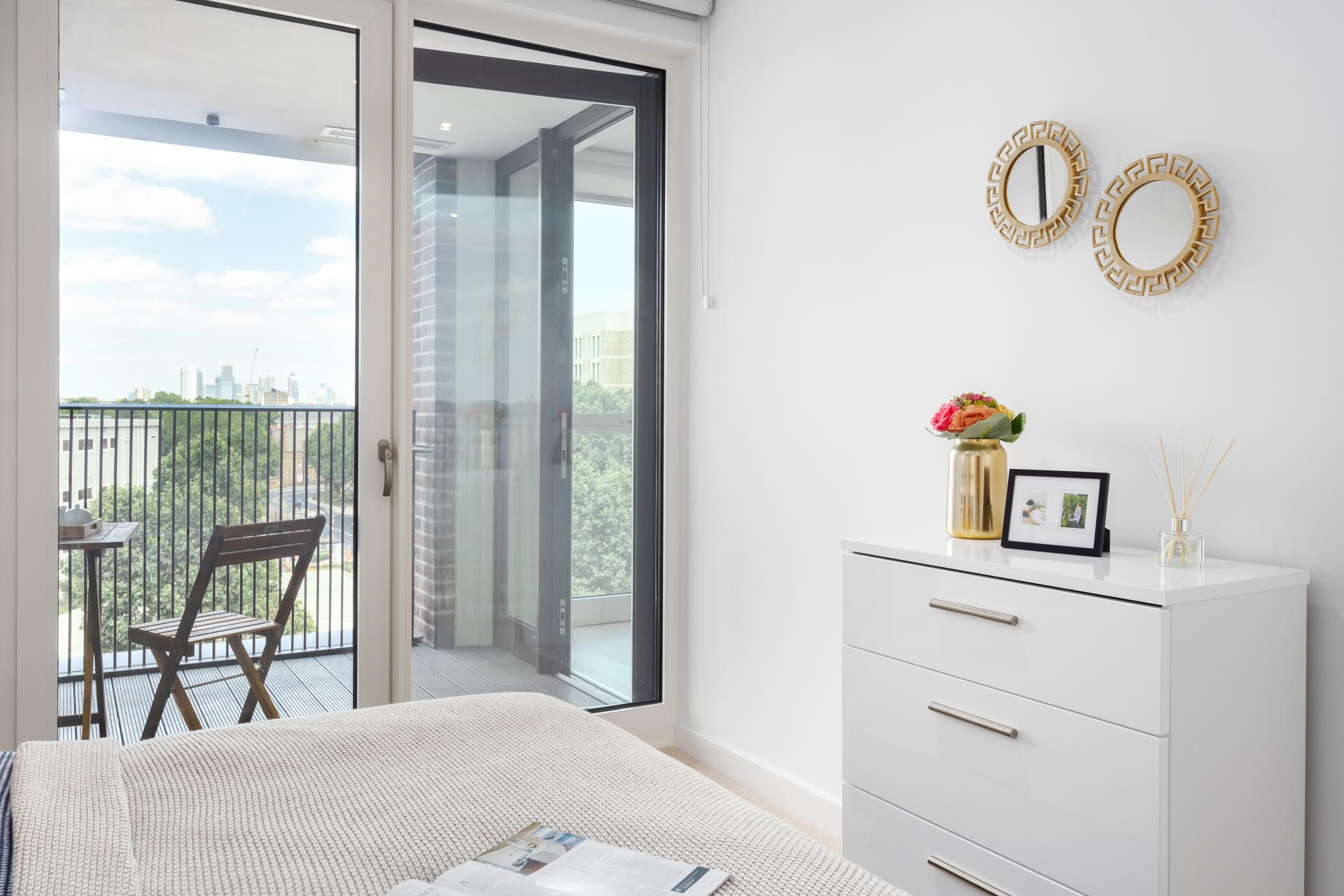 Bright bedroom at Elephant & Castle Serviced Apartments - Citybase Apartments
