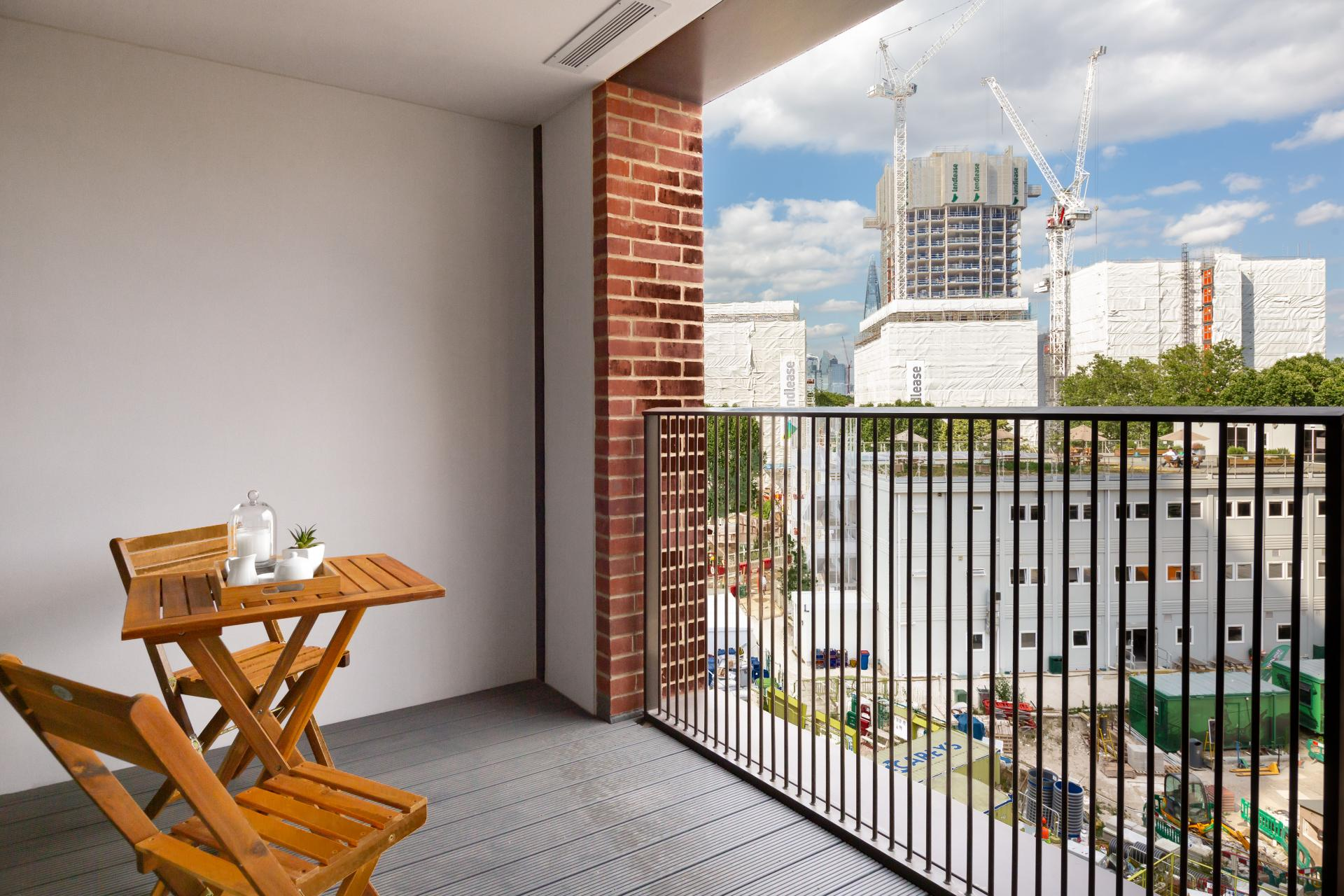 Balcony at Elephant & Castle Serviced Apartments - Citybase Apartments